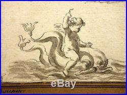 BOICHOT Guillaume (1735-1814) Dessin Ancien Angelots Old Master Drawing