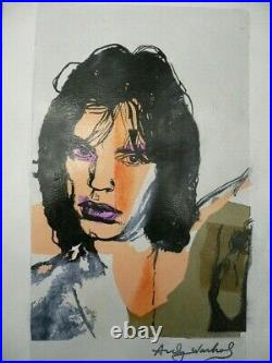 Masterpiece Of Andy Warhol Original Drawing Oil On Paper Coa Painting Basquiat